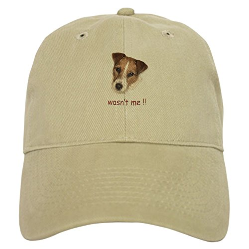CafePress Parson Russell Terrier, Jack Cap Baseball Cap with Adjustable Closure, Unique Printed Baseball Hat Khaki ()