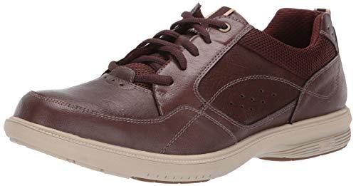 Nunn Bush Men's KORE Walk Moccasin Toe Lace Up Oxford Shoe, Brown, 13 Wide (Nunn Bush Colton Mens Leather Walking Shoes)