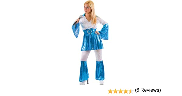 Mamma Mia 1970s Ladies Fancy Dress Small (disfraz): Amazon.es ...