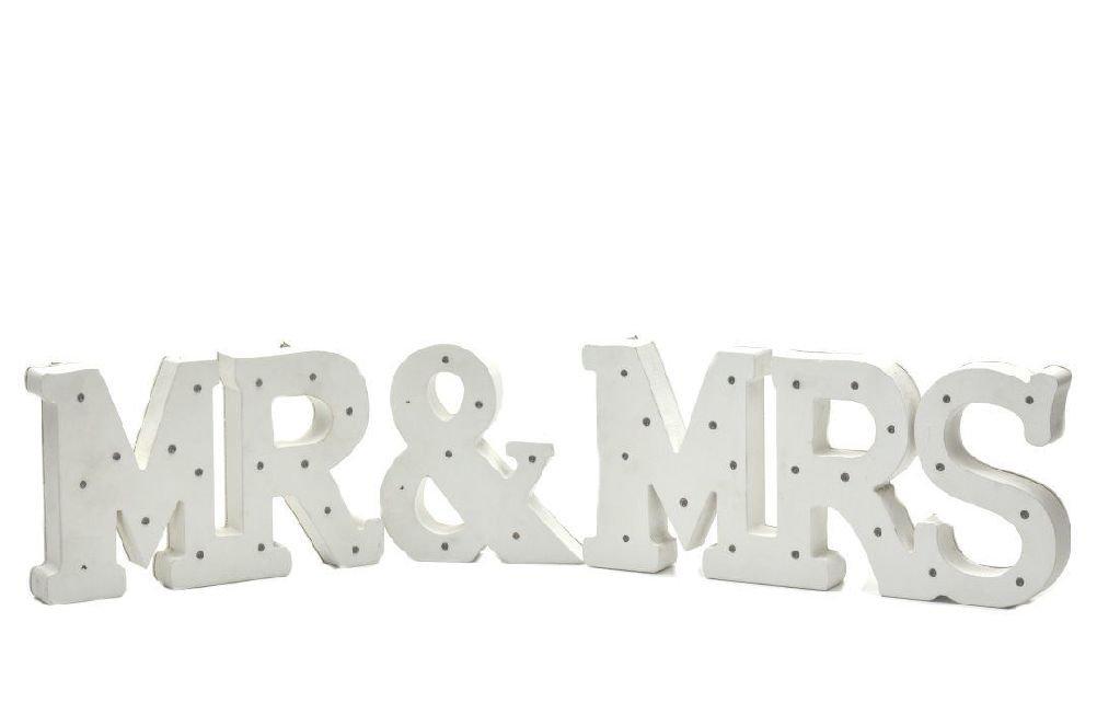 ICE WASHINGTON home series Decorative Elegant Wooden LED Letters Light MR & MRS Set
