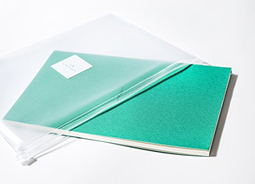 Classic Ruled Paper Softcover Notebook - with 80 Ruled Pages, 16 Perforated Pages, Protective Sleeve, Pocket, and Ruler (Green)