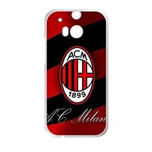 HTC One M8 case , AC Milan Football HTC One M8 Cell phone case White-YYTFG-18829