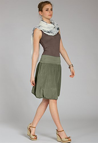plusieurs hiver en ceinture stretch Jupe coloris jupe velours pour RO004 Vert CASPAR boule avec femme Olive Sq1g47w
