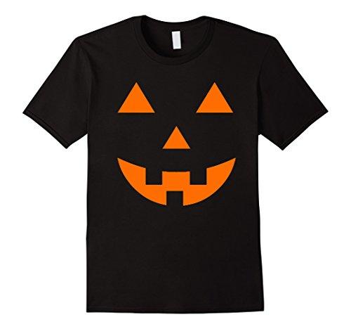 [Men's Jack O' Lantern Pumpkin Halloween Costume T-Shirt Giant Face 3XL Black] (Adult Pumpkin Halloween Costumes)