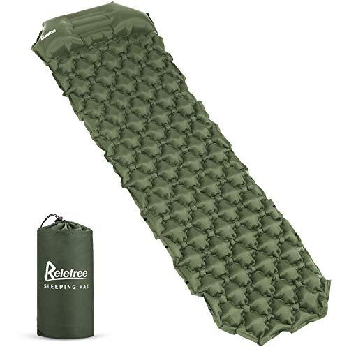 Relefree Camping isomat, draagbare vochtbestendige ultralichte slaapmat, licht en compact, geschikt voor camping…