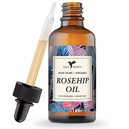 Rosehip Seed Oil - Organic, 100% Pure, Cold Pressed   For Mo
