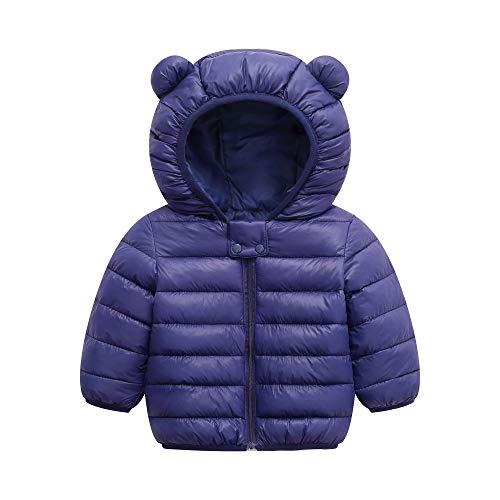BSC007 Baby Boys Girls Winter Coats Hoods Light Puffer Down Jacket Outwear Navy (Best Infant Winter Coat)