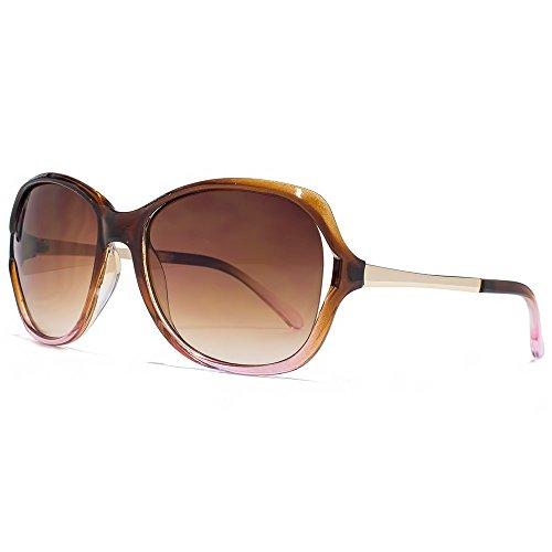 rose Gradient de lunettes en brun les soleil Brown Eyewear RHS86 Chloe Glare dégradé découper XqUBBv