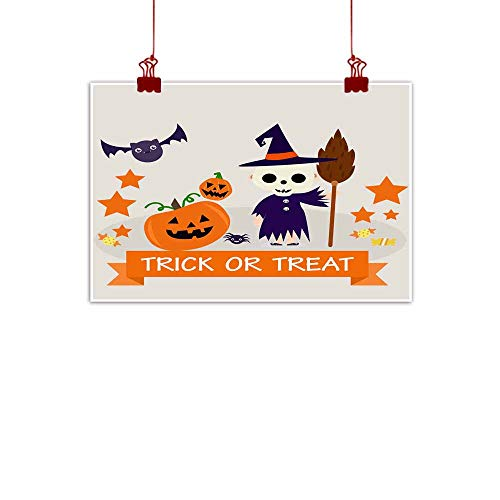 Mannwarehouse Wall Art Decor Poster Painting Halloween Background
