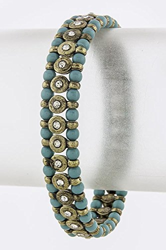 BAUBLES & CO ACRYLIC BEADED BRACELET (Turquoise)