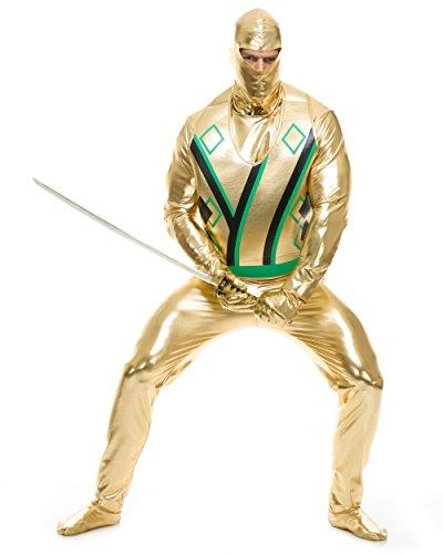 Adults Small 36-38 Men's Gold Ninja Avenger Series 3 Martial Arts Costume