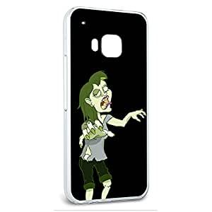 Snap On Protective Slim Hard Case for HTC One M9 Zombie Designs - Zombie Girl On Black - Undead