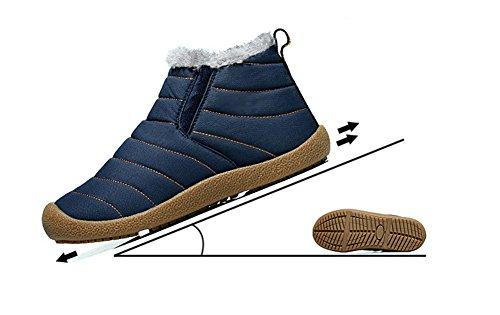 Top Stivali Caldo Phefee Stringate Uomo All'aperto Invernali Donna High Stivaletti Pelliccia Piatto Neve Boots Antiscivolo Caviglia Scarpe Grigio vxq8ITq