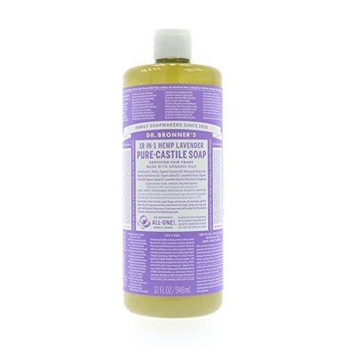 Dr. Bronner's, Pure Castile Soap, Liquid Soap, Lavender Hemp, 32 oz (Wholesale Castile Soap)