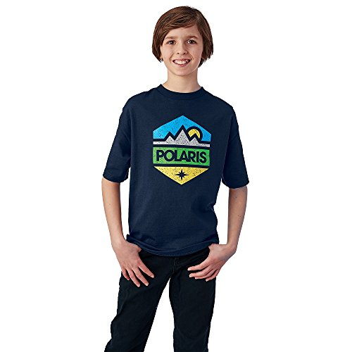 Polaris Youth Hex Tee - Navy, Large ()