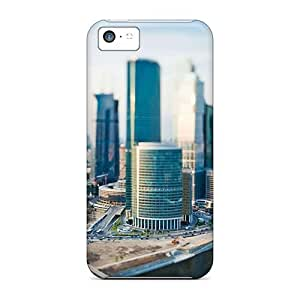 Slim Fit Tpu Protector Shock Absorbent Bumper Cityscape Tilt Shift The Urban Case For Iphone 5c