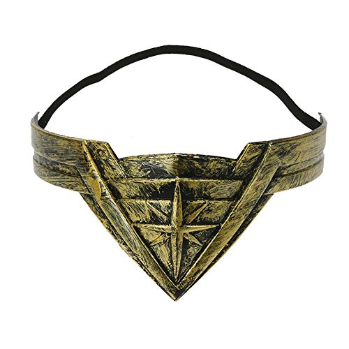 Goodfeng Wonder Woman Headband Hair Band Adult Kids Cosplay Costume Stage Props Headband Hair Band Hairpin Ornament Performance Decoration Clothing (A)