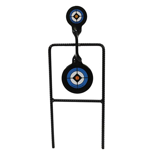 Do-All Outdoors HGRB5 Rebar Spinner Shooting Target for 9mm to .45 Caliber, Black, 30'' x 12'' x 3.5''