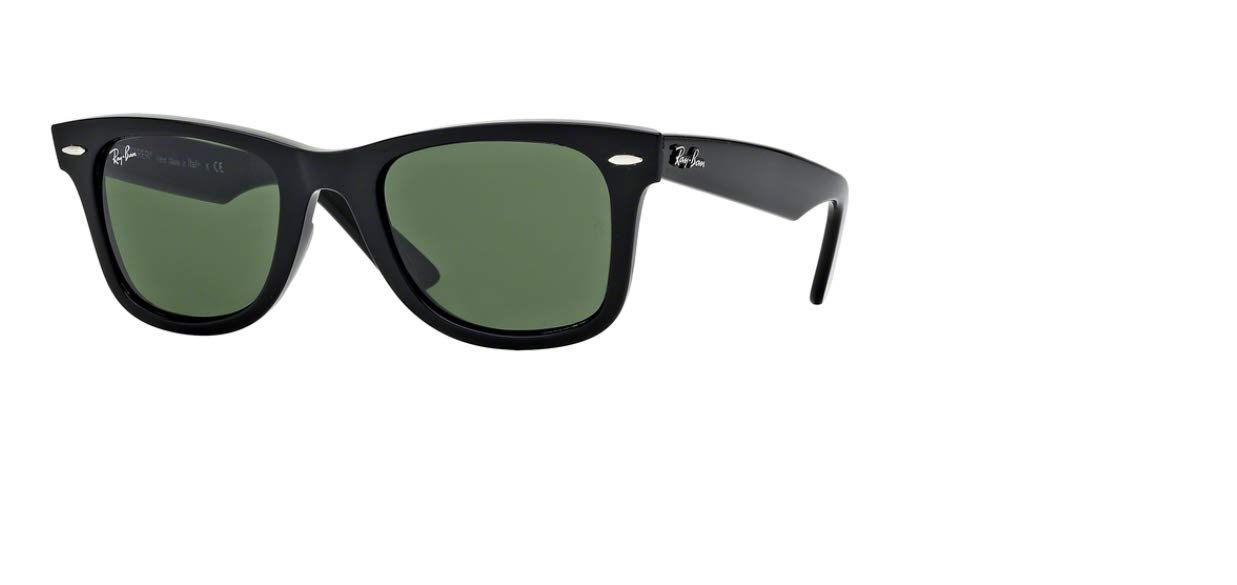 954857cc02dd9 Authentic Ray-Ban Wayfarer RB 2140 901 47mm Black Frame W  Green Lenses  Smallest  Amazon.co.uk  Kitchen   Home