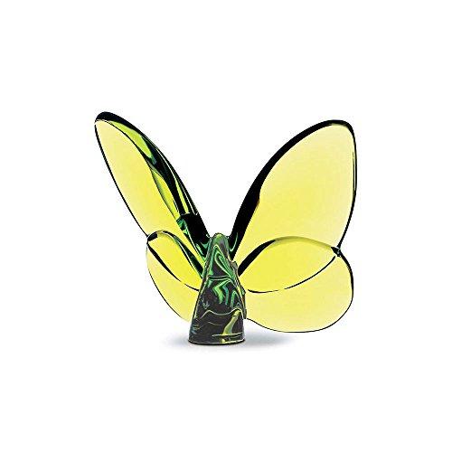 Escultura em Cristal Baccarat Papillon Verde 8 x 6,5 cm