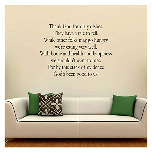 Wall Murals, Quotes Decals DIY Removable Wall Sticker Murals PVC DIY Easy Peel Vinyl Decal Kids Adults Bedroom Living Room Family Home Decor (Black) ()
