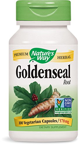 Nature's Way Goldenseal Root, 570 mg, 100 Capsules