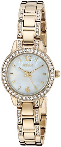 Relic by Fossil Women's Tenley Japanese-Quartz Watch with Alloy Strap, Gold, 10 (Model: ZR34506) (Ladies Gold Fossil Watches)