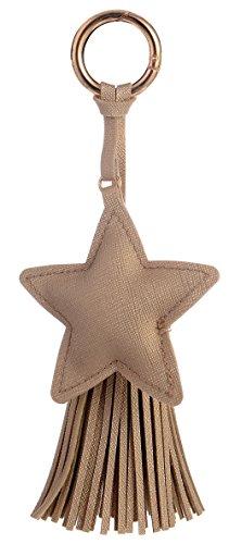 el Keychain for Women Handbag Charms Purse Accessories #1208-12 (Star Keychain)