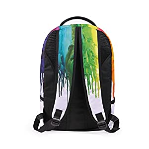 School Bag,Han Shi Women Men 3D Galaxy Travel Satchel Stylish Unisex Canvas Book Bag Shoulder Schoolbags (C, Large)