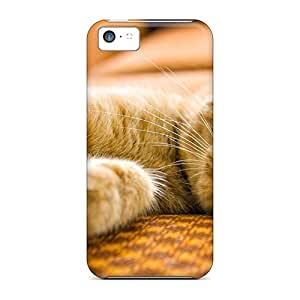 Shock-dirt Proof Sleeping Red Cat Case Cover For Iphone 5c