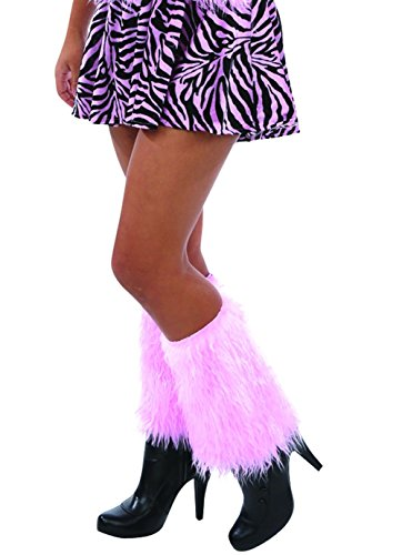 Warm Veil - Veil Entertainment Furry Halloween Party 2pc Leg Warmers, Pink, Medium