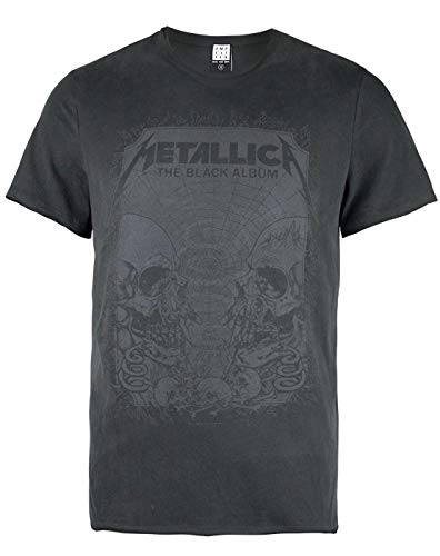 Amplified Metallica The Black Album Men's T-Shirt (Small)