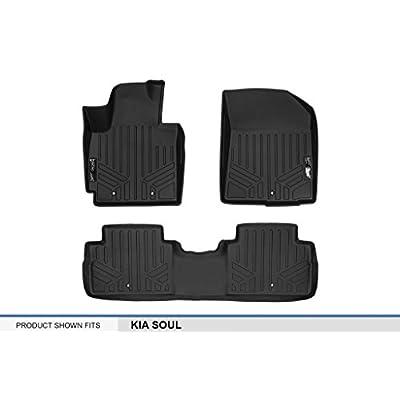 MAXLINER Floor Mats 2 Row Liner Set Black for 2014-2020 Kia Soul: Automotive