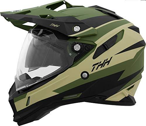 이너 산 바이저 장비 오프로드 헬멧 TX-28 Volt Green Black(그린 블랙) 모토크로스 전배기량 대응 thh-tx28vo-gk (사잊 : M, L, XL, XXL)