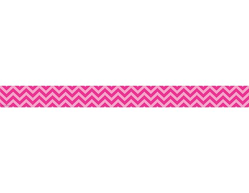 Teacher Created Resources 5541 Hot Pink Chevron Straight Border Trim (Hot Pink Border)