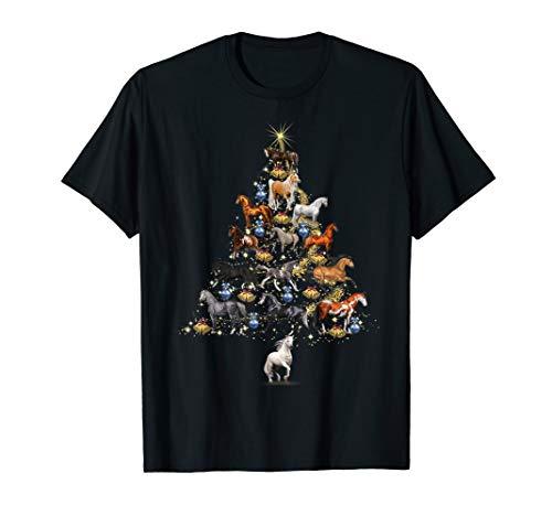 Horses Christmas Tree Shirt Horse Lover X-mas