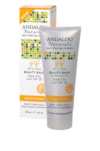 Andalou Naturals Brightening SPF 30All In One Beauty Balm,