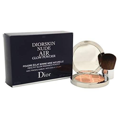 001 Air - Christian Dior Diorskin Nude Air Glow No. 001 Fresh Tan Powder for Women, 0.35 Ounce