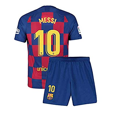 Youth Messi Jersey 10 Barcelona Kids 2019-2020 Home Soccer Shorts Lionel