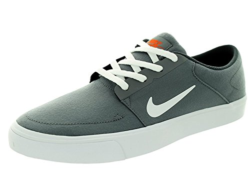 Nike Mens SB Portmore Cnvs Cool Grey/White/University Orange Skate Shoe Men, Cool Grey/White/University Orange, 40.5 D(M) EU/6.5 D(M) UK