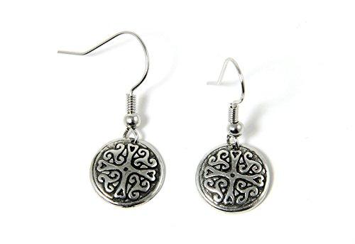 Celtic Cross Earrings Pewter Irish Jewelry Made in Ireland ()