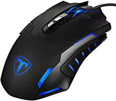 Gaming Mouse, [New Version]Pictek Gaming Mice, Wired Computer Mouse, Gamer Professional 7200 DPI Programmable Mouses with 5 Led Light, 7 Buttons