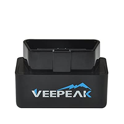 Veepeak Mini WiFi OBD2 Scanner for iOS and Android, Car OBD II Check Engine Light Diagnostic Code Reader Scan Tool Supports Torque Pro, OBD Fusion, Car Scanner App: Automotive