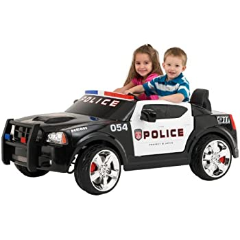 Amazon Com Kid Trax Dodge Charger Pursuit 12v Police Car