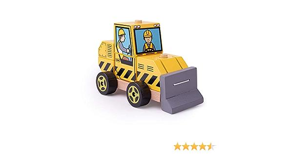 Bigjigs Toys Wooden Stacking Bulldozer Toy