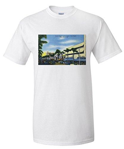 Miami Beach, Florida - View down Lincoln Road (White T-Shirt - Road Miami Shops Lincoln
