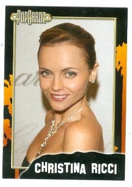 Christina Ricci trading card Pop Cardz #35 (Buffalo 66, Black Snake Moan, Addams Family)