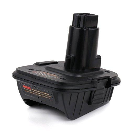 Enegitech DCA1820 Battery Adapter for Dewalt 18V Tool - Convert Dewalt 20V Lithium Ion Battery for DC9096 DC9098 DE9096 18 Volt Battery by Enegitech