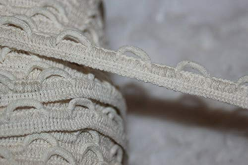 Decorative notions and Trims - 3 Yards Off White Sewing Non Stretch Lacing lace up Loop Braid Trim 5/8 Cotton - Embellish Garments, Pillows and Home ()