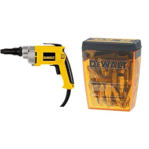 (DEWALT DW268 6.5 Amp Screw Gun with DEWALT DW2002B25 #2 Phillips Bit Tip (25-Pack))